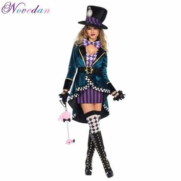 Halloween Alice Sexy Dress In Wonderland Costumes Women Magician Cosplay Girls Princess Quess Cosplay Female Blue Coat And Skirt Macchar Cosplay Catalogue