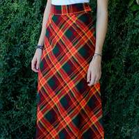 High Waist Vintage Long Skirt xs/s
