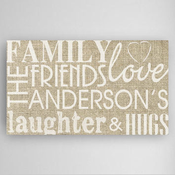 Personalized Family & Friends Canvas Sign