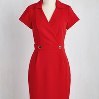Sophisticated Situation Dress in Red | Mod Retro Vintage Dresses | ModCloth.com