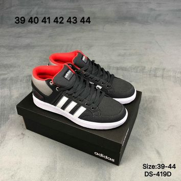 Adidas Original Men Women CF ALL COURT MID School Style Fashion Casual Skate shoes Black/White 2 Colors