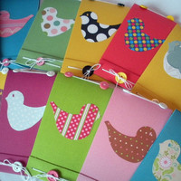 6 Notebook and 6 Card Custom Made Bird Matchbook Style by BeMyBee