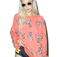 Wildfox Couture Robot Takeover Kim's Sweater | Dolls Kill