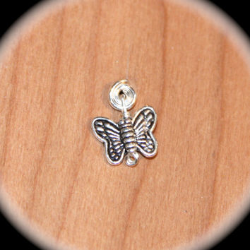 Butterfly Cartilage Nose Ring Stud,  20 or 18 Gauge tragus/cartilage Stud, Butterfly Nose Stud, Helix Stud