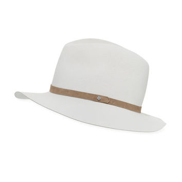 Floppy-Brim Fedora Hat, Gray