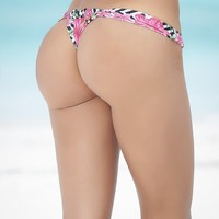 Miami Prints Thong Bikini Bottom