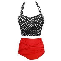 Vintage Pin up Rockabilly Polka Dot High Waist Swimwear from Chaussure Boite by B. Ayesha