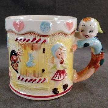 Child's Vintage Nursery Rhyme Cup - Milk Mug with Hansel & Gretel