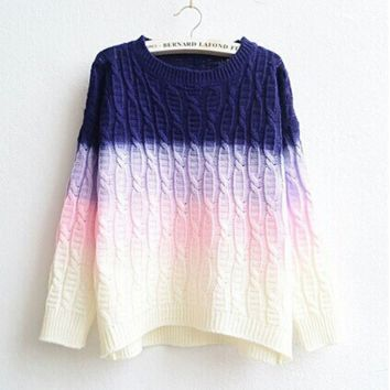 FASHION HOT GRADIENT SWEATER