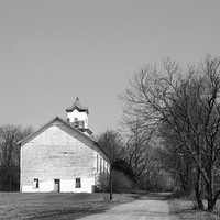 Old County Church, Little White Church, Country Home Decor, Black an White, Photograph, Country Road, Primitive Decor, Rustic Home, Wall Art