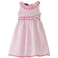 So La Vita Girls 4-6x U-Neck Smocked Yoke Dress $19.99