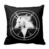 Satanic Unicorn Pillow