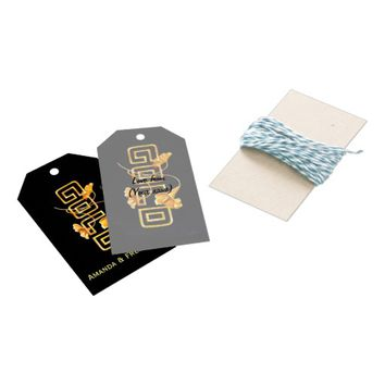 Golden Calla Lily 50th Wedding Anniversary Custom Pack Of Gift Tags