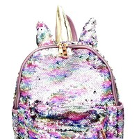 2018 Unicorn Inspired Sequin Flashy Fashion Backpack