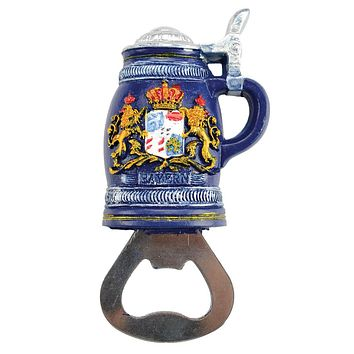 Fridge Magnet Bottle Opener Bayern Beer Stein