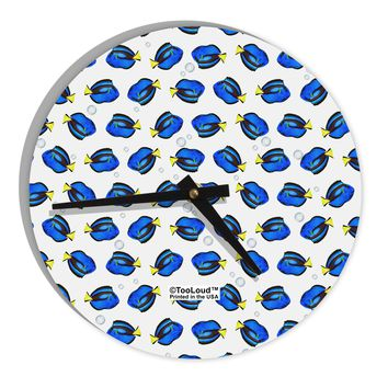 """Blue Tang Fish AOP 8"""" Round Wall Clock All Over Print"""