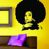 Dabbledown Beautiful Woman with Afro Version 103 Car Window Laptop Windshield Banner Lettering Decal Sticker Decals Stickers Girl JDM Drift