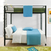 Full over Full size Sturdy Black Metal Bunk Bed