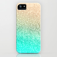GATSBY AQUA GOLD iPhone & iPod Case by Monika Strigel