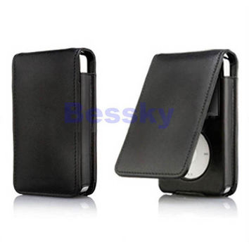 New Leather Flip Case Cover Skin For iPod Classic 80 120GB