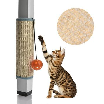 Cat Scratch Sisal Mat Board Chair Table Mat Furniture Protector Funny Bells Cat Grinding Their Claws Toys