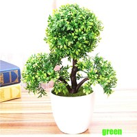wedding decorative flowers wreaths Artificial flower Trigeminal potted bonsai fake flower plant pine trees free shipping