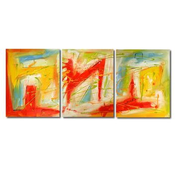 """'Sunday Bliss'  - 48"""" X 20"""" Original Abstract  Art. Free-shipping within USA & 30 day return Policy."""