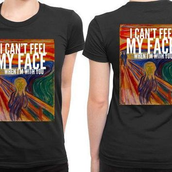 The Weeknd I Cant Feel My Face When I Am With You Illustrations 2 Sided Womens T Shirt