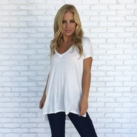 JV Jersey Tee In Ivory