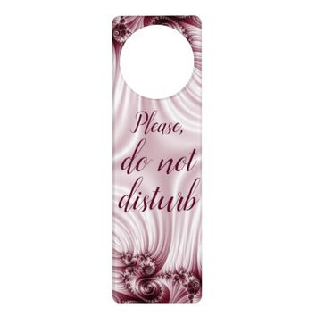 Pretty pink fractal. Silk imitation. Add text. Door Hanger