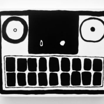 Abstract FACE PAINTING Canvas Original Black White Abstract Painting Canvas Painting Original Abstract Black and White Art Weird Face Art