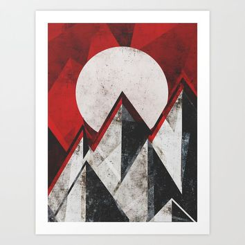 Mount kamikaze Art Print by HappyMelvin