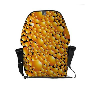 Yellow Bubble Pattern Small Messenger Bag