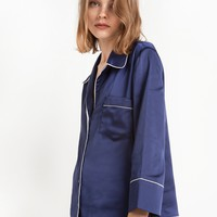 Navy Pajama Shirt