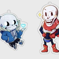 [Pre-Order]Set of 2! - [Undertale] Acrylic Charms by v0idless' Art