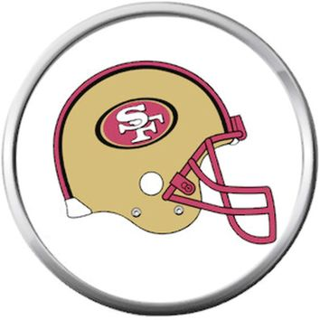 San Francisco 49ers NFL Logo Football Helmet Fan Team Spirit 18MM - 20MM Snap Jewelry Charm