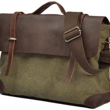 Vintage Military Canvas Messenger Bag