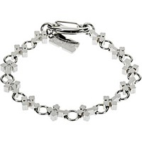 Stainless Steel Genuine Diamond Cross Bracelet