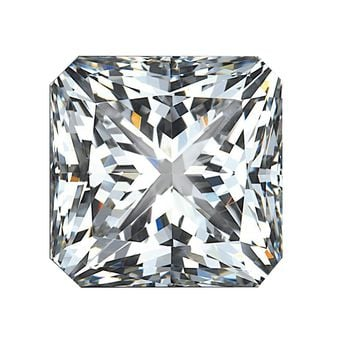 1.5ct Square Radiant Cut Corners Diamond Veneer Loose Stone
