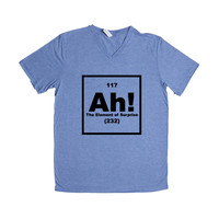 Ah The Element Of Surprise Periodic Table Elements Science School Teachers Students Pun Puns Play On Words Funny SGAL10 Unisex V Neck Shirt