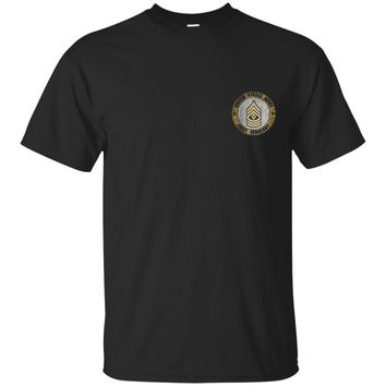 ARMY FIRST SERGEANT DISTRESSED T-SHIRTS_Black