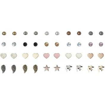 Lulu & Rose Accessories Cute 20 Pack of Pastel Stud Earrings in Multi-Color - Glue Store