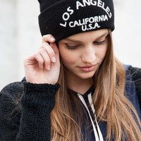 LOS ANGELES EMBROIDERY BEANIE