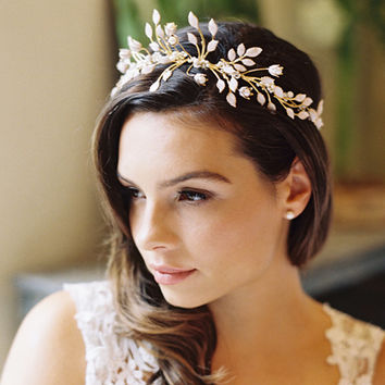 Wedding crown bridal tiara bridal by EricaElizabethDesign on Etsy
