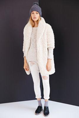 e601c134d0 Pins And Needles Sherpa Furry Robe Coat- Cream. Save Sold ·  urbanoutfitters