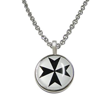 Maltese Cross Pendant Necklace