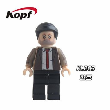 Single Sale Super Heroes Star Wars Mr Bean The Walking Dead Daryl Dixon Rick Building Blocks Education Toys for children KL203