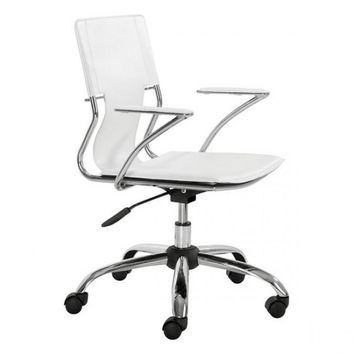 ZUO Modern Trafico 205182 Office Chair White