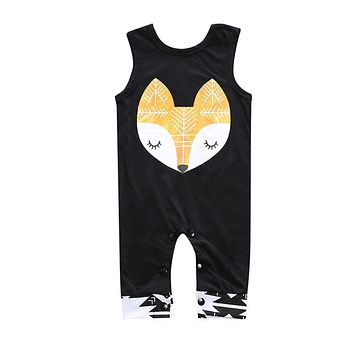 Newborn Cotton Baby Boy Girl Clothes Sliders Sleeveless Romper Cotton Overalls Cute Animals Clothes jumpsuit