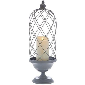 """Luminara 24"""" Birdcage with Removable Candle"""